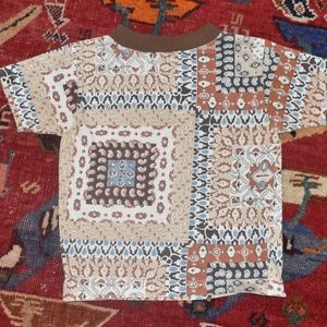 Other - Vintage 1970's Toddler Paisley Floral T-Shirt